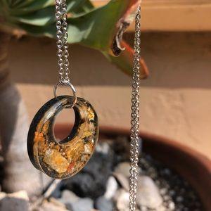 Jewelry - Handmade resin pendant